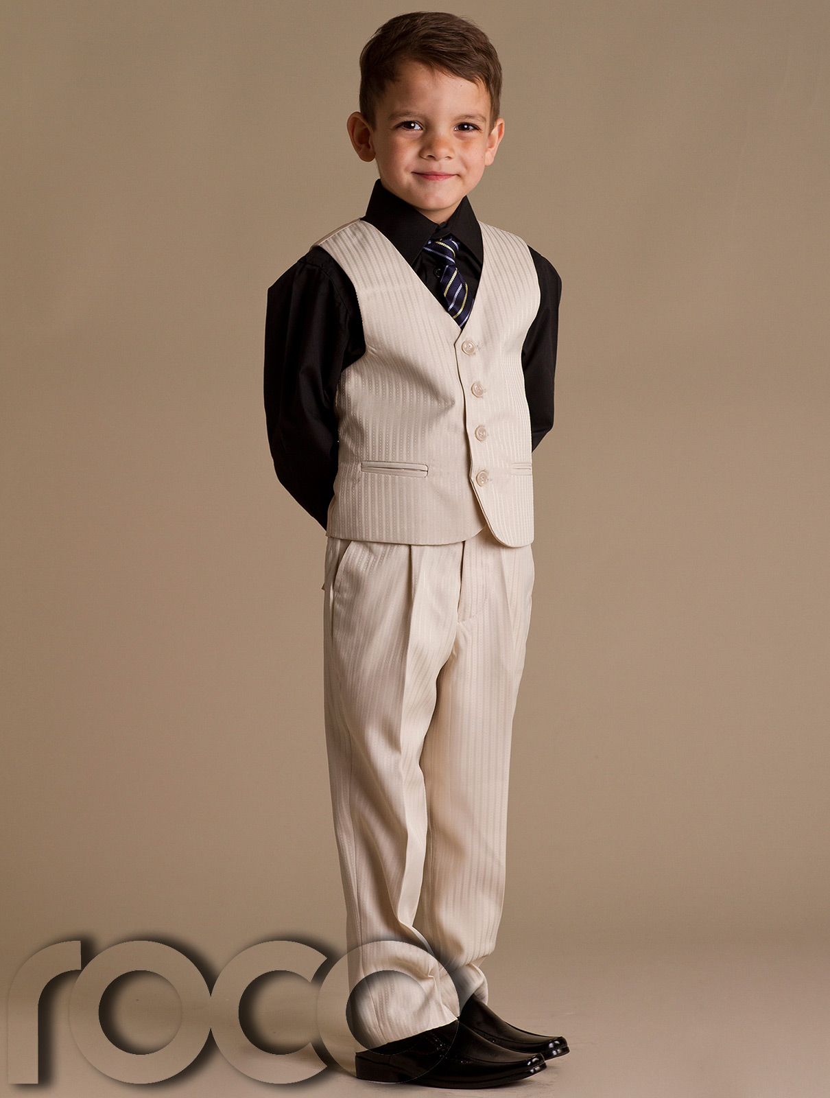 At Occasion Wear for Kids we specialize in boy's suits, ranging from 4 piece boys suits and 5 piece boys suits. We have a huge selection of designs in our Boys Wedding Outfits section with some very exclusive Boys Wedding Suits that cannot be found elsewhere.