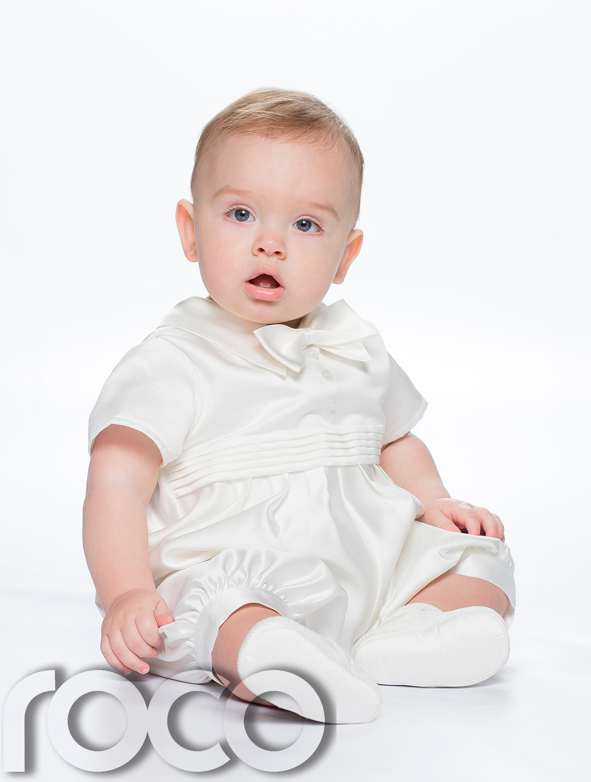 Baby Boys Cream Romper Suit Boys Christening Outfit Christening Suit | EBay