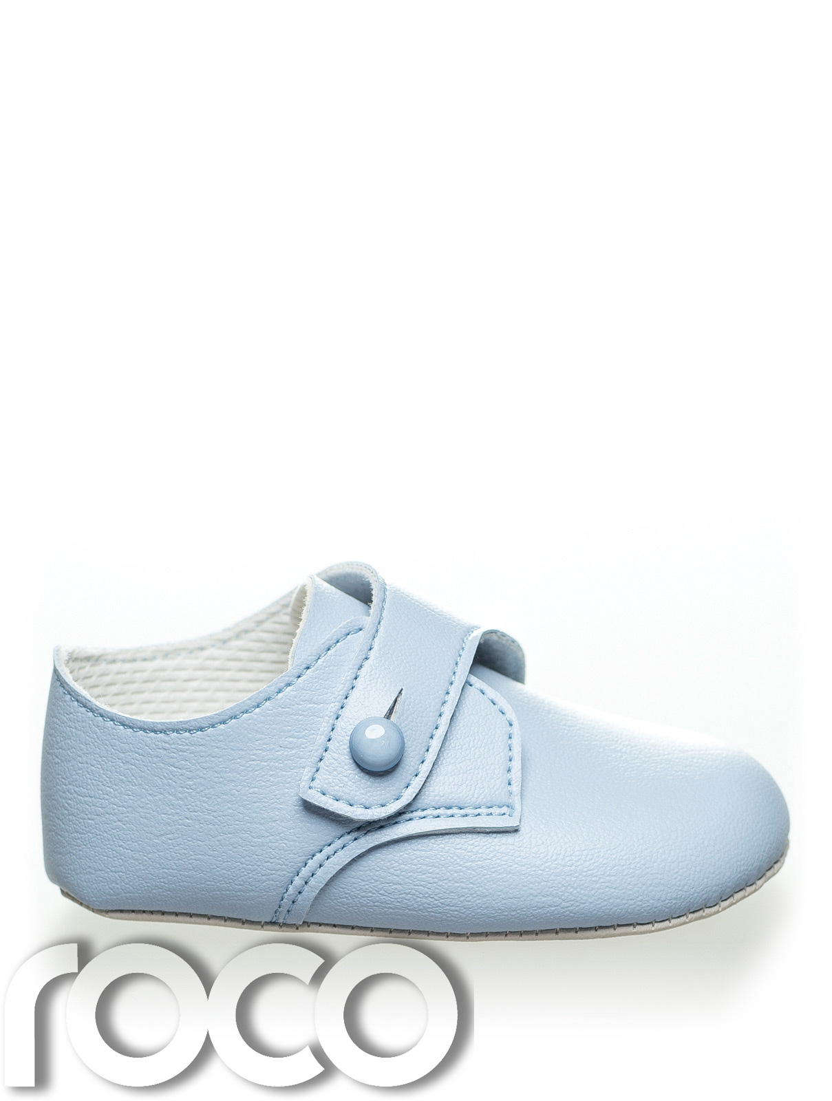 baby boys blue soft sole shoes baby blue christening