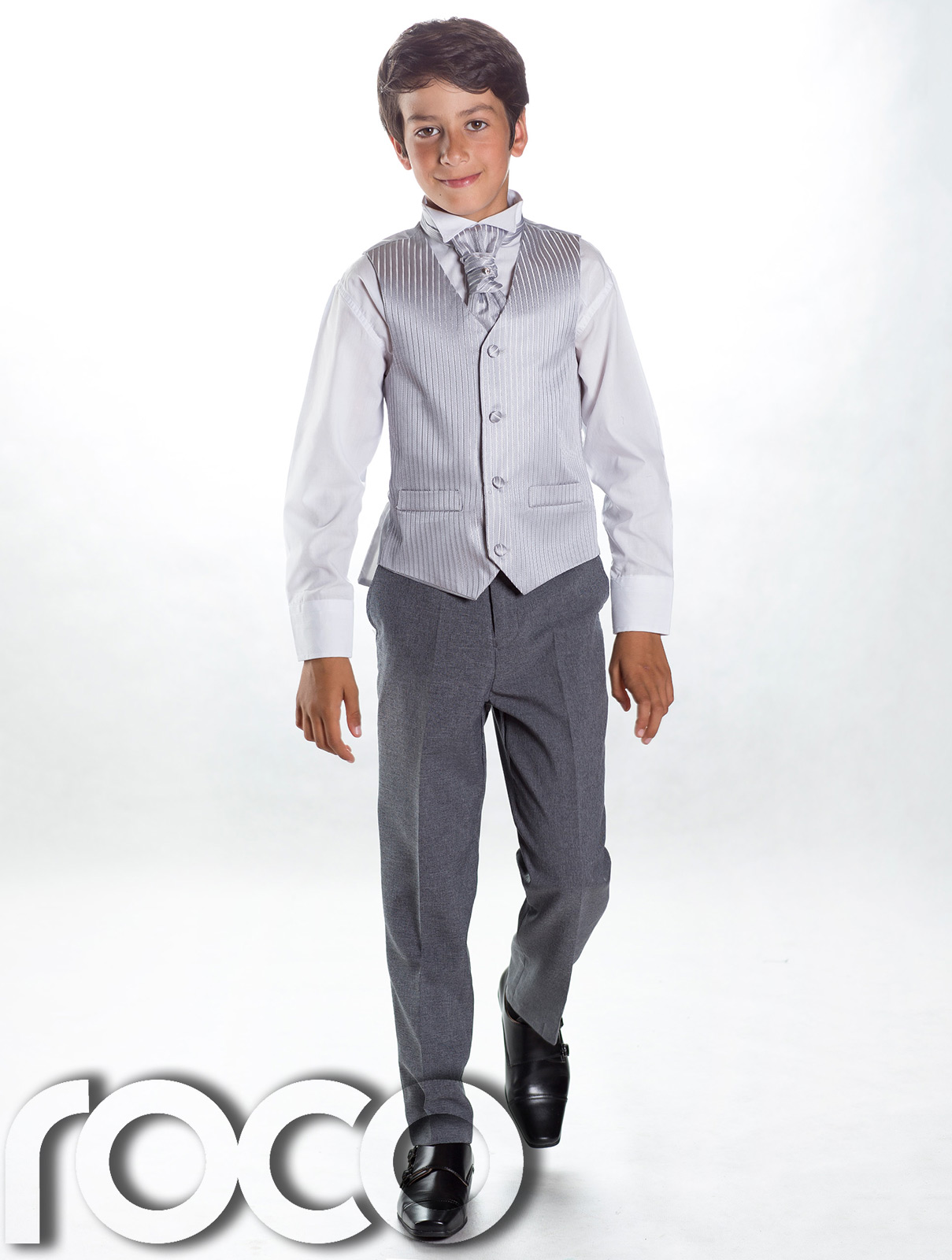 Handmade baby boy's occasion wear formal suit in a grey waistcoat with blue shirt and trousers; a classic look for a wedding party or baby birthday. Black Bow Tie Set Boys Waistcoat with Tuxedo Shirt (3 to 16 yrs) As low as ₹1, Newborn Baby White Tuxedo One Piece Great for Party Wedding, Occasion Wear.