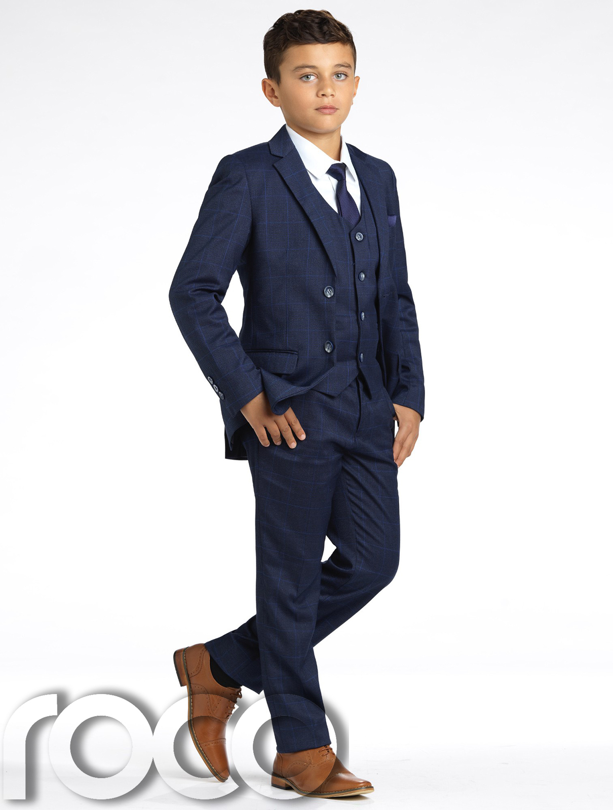 Boys navy suit boys grey suit boys check suit slim fit suit page boy suit ebay - Kommunionanzug modern ...