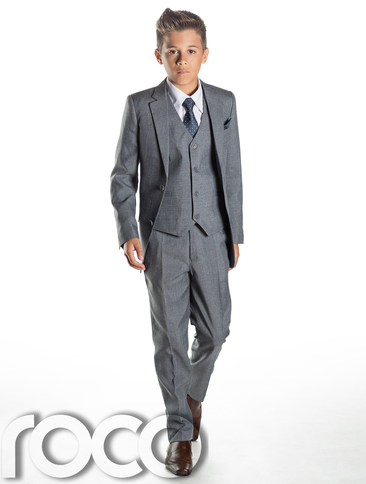 Boys grey suit slim fit suits page boy suits prom suits for Boys dress clothes wedding