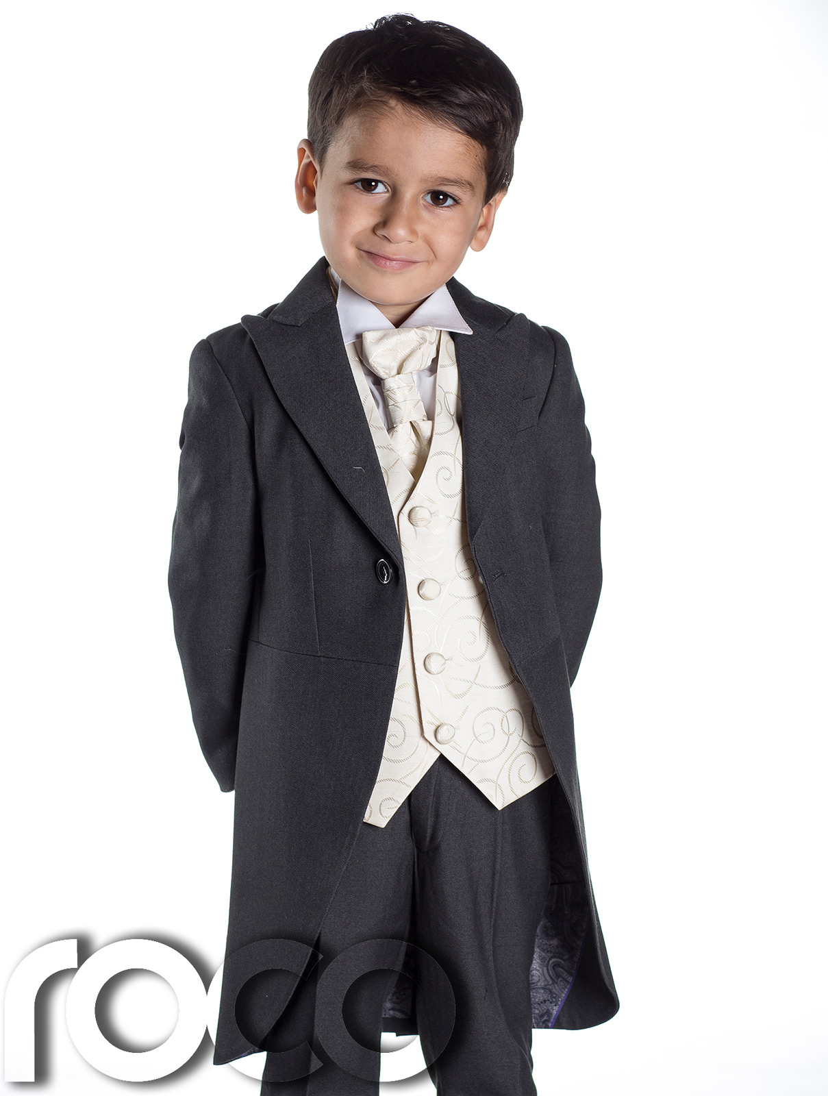 Boys' Suits. Showing 2 of 2 results that match your query. Search Product Result. Product - Boys Tuxedo Suit with Satin Notch Labels and a Black Neck Tie. Product Image. Product Title. Boys Tuxedo Suit with Satin Notch Labels and a Black Neck Tie. Price $ 98 - $ Product Title.