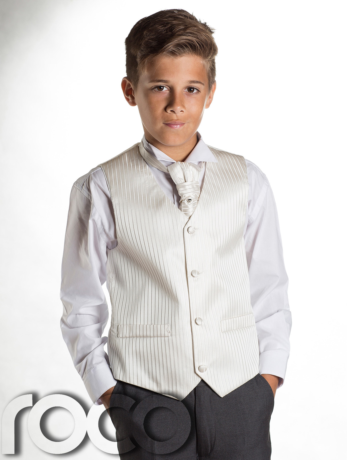 Boys Grey & Ivory Tail Suit , Wedding Suits, Page Boy ...