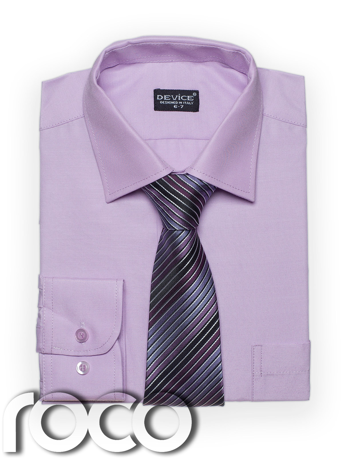 Boys Lilac Shirt Tie set for Formal Prom Confirmation ... - photo#22