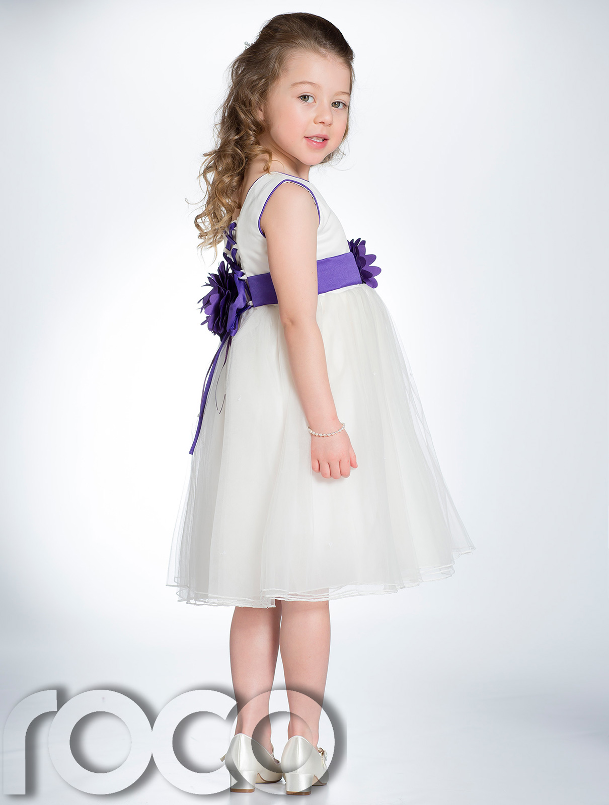 Flower Girl Dresses Ivory And Purple 69