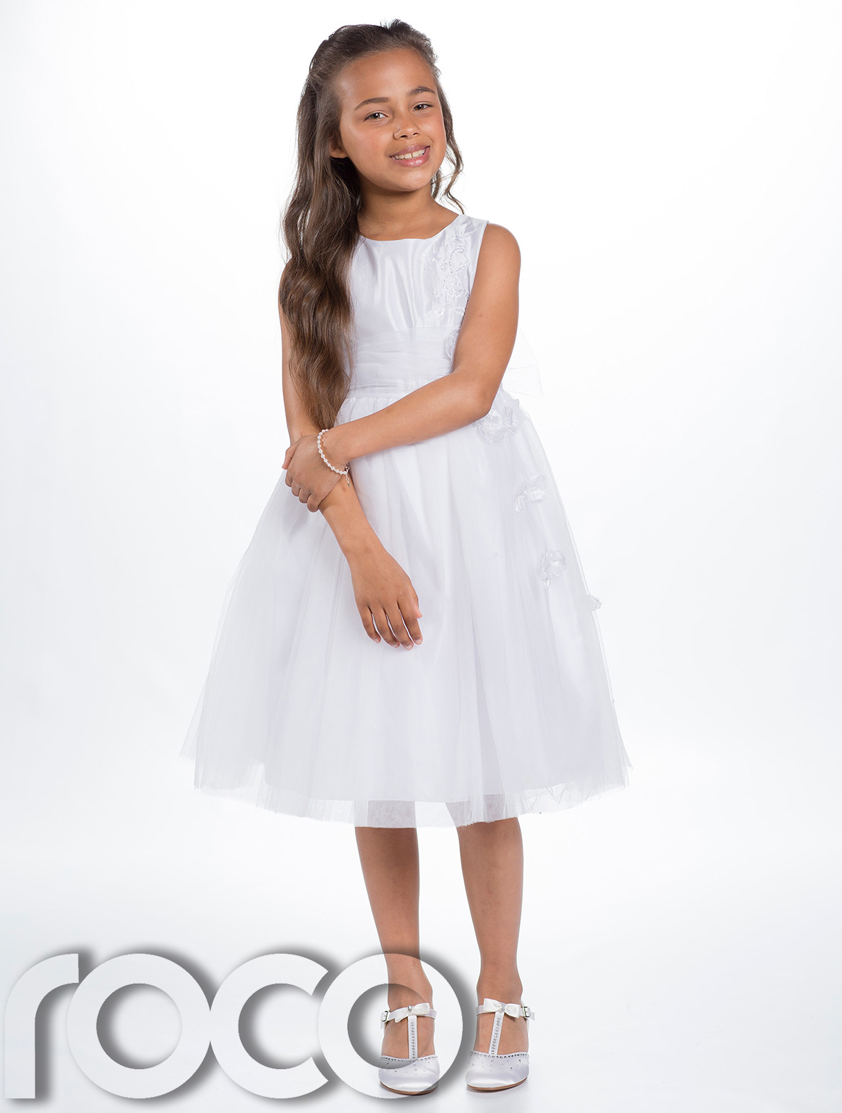 14 Year Old Girl in White Dress