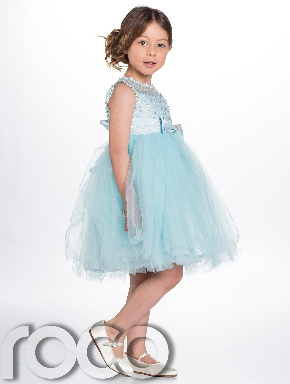 Baby Blue Flower Girl Dresses Uk 74