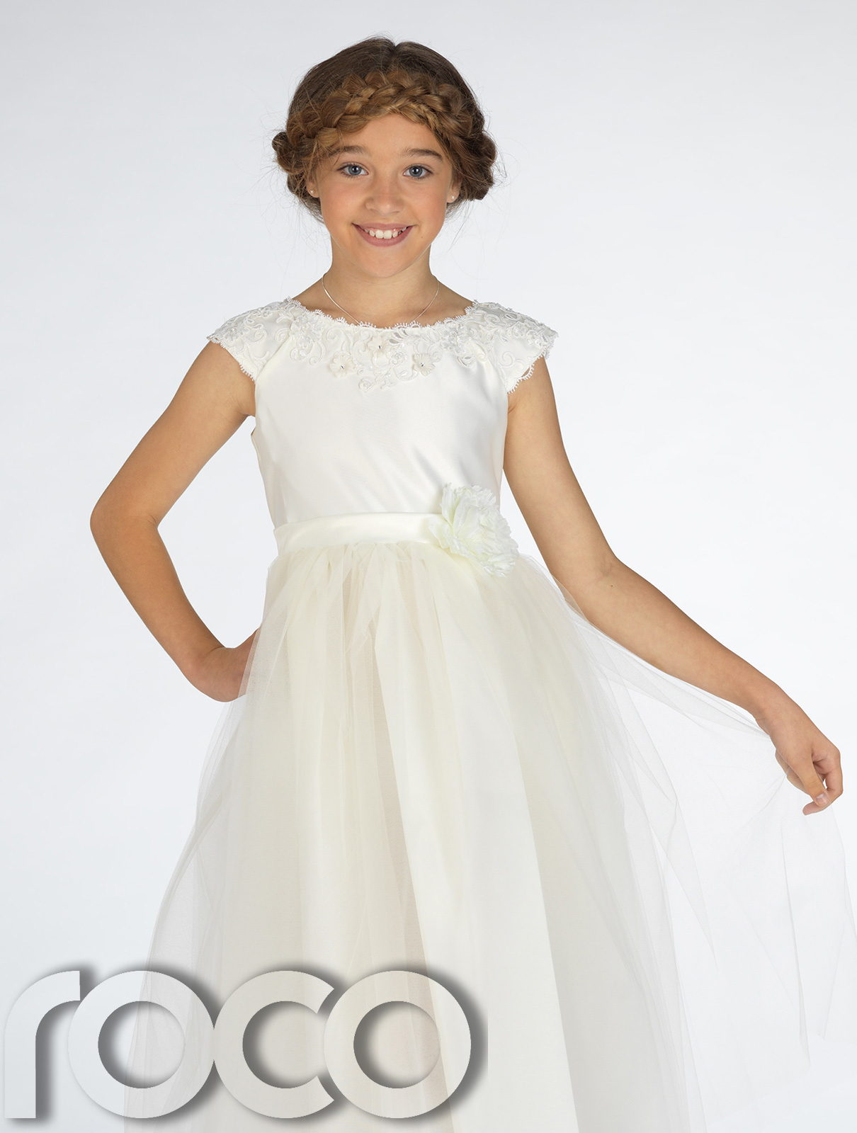 how to cut flower girl dress