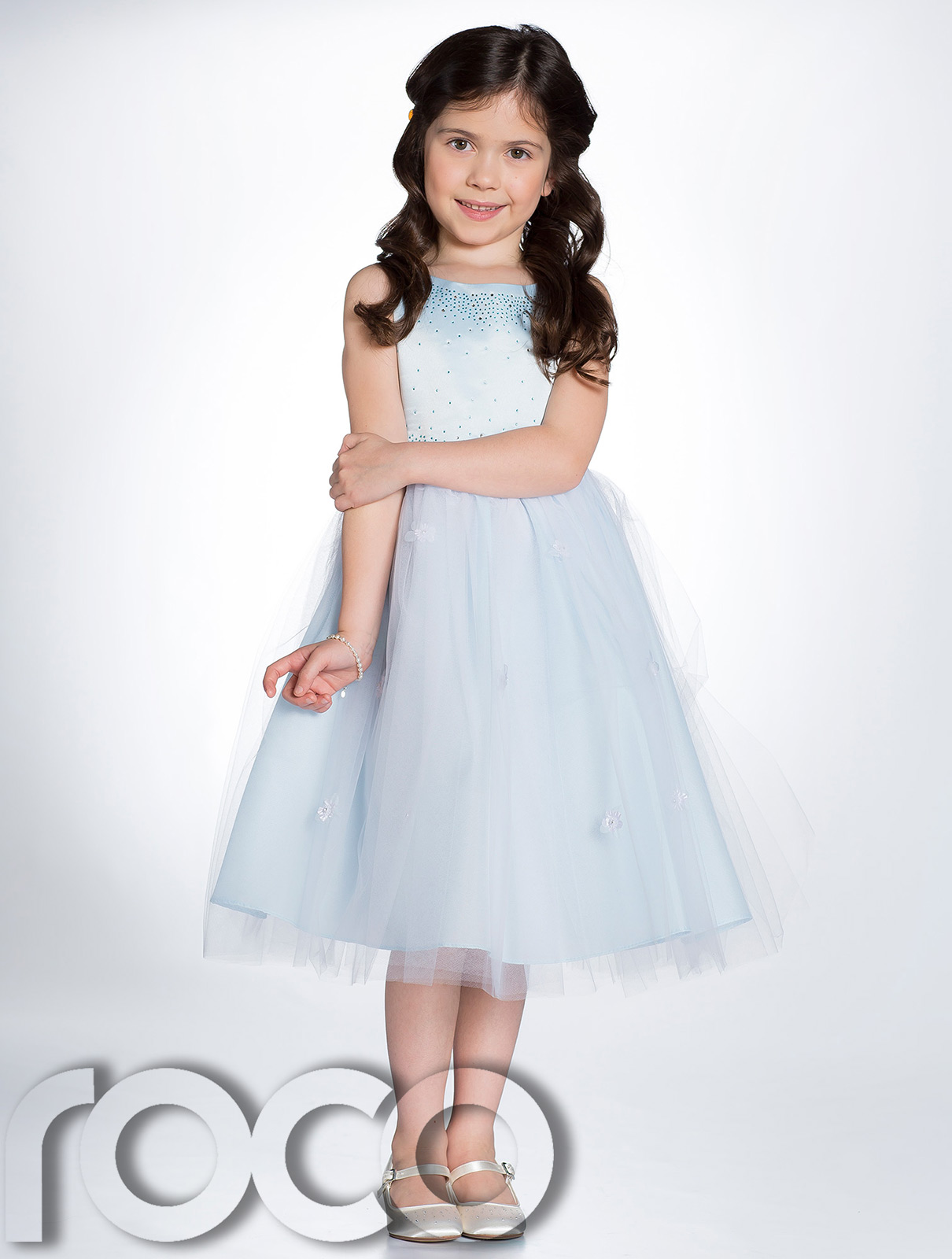 Baby Blue Flower Girl Dresses Uk 25