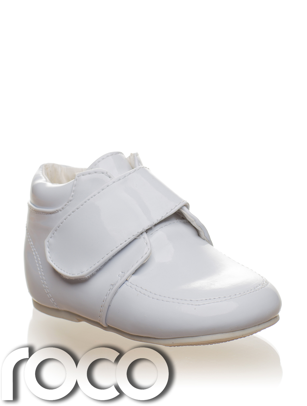baby boys white velcro wedding formal pageboy bootie