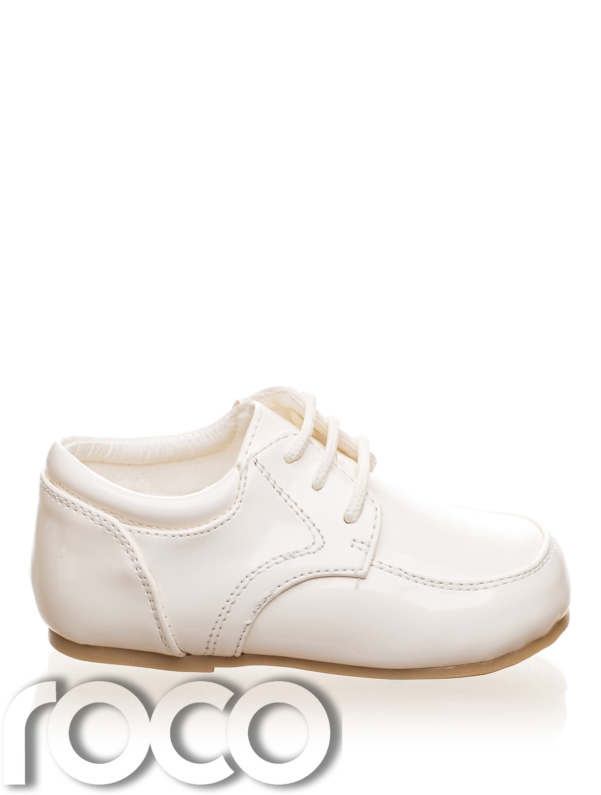 Childrens Baby Boys Cream Shoes Lace Up Wedding Page Boy