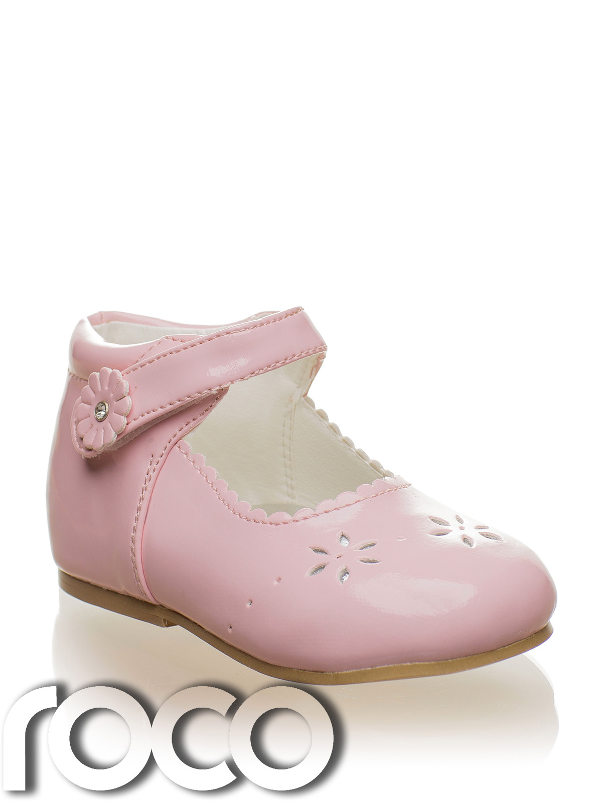 baby pink shoes christening shoes flower shoes