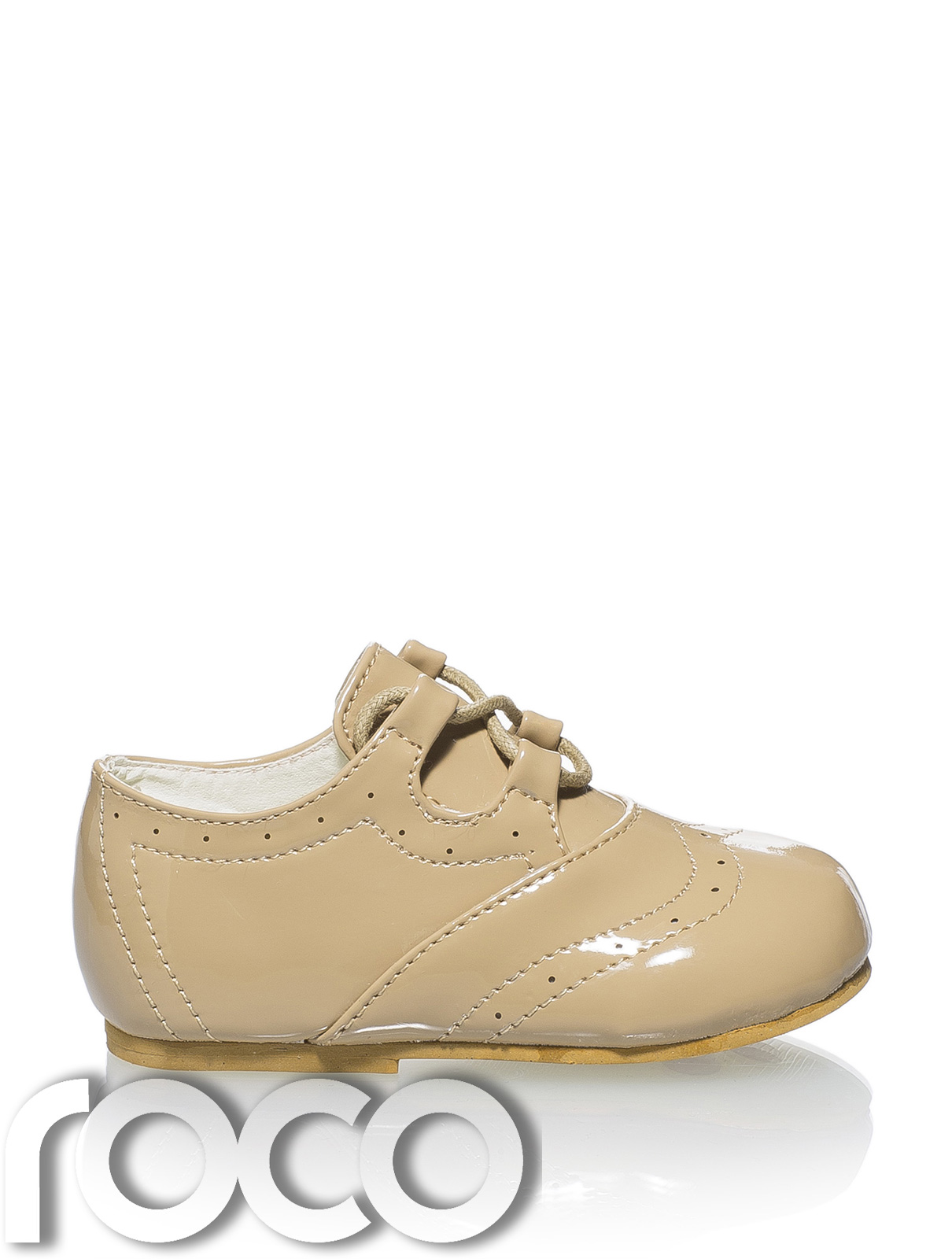 Baby Boys Camel Shoes Christening