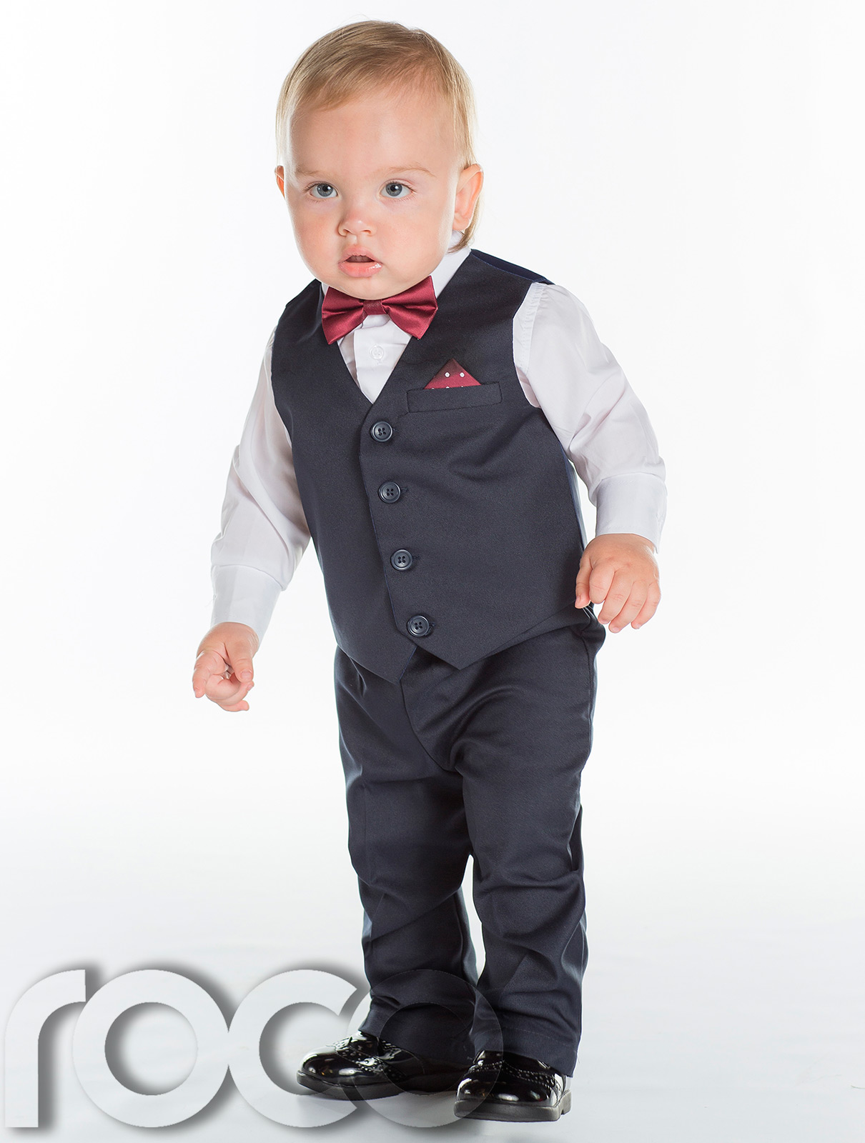 Boys Tuxedo in White with a bow tie outfit. This ensemble comes with a tuxedo jacket, vest, bow tie, shirt, and pants.5/5(46).