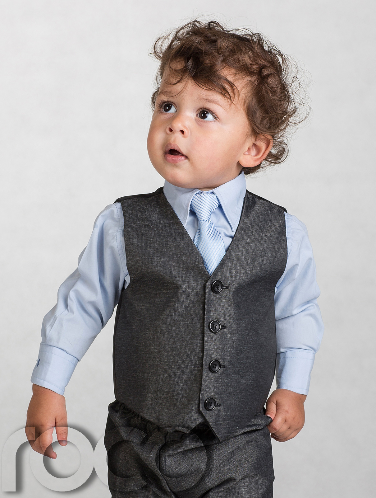 Boys grey suit page boy suits baby boys black shoes for Shirt and tie for charcoal suit