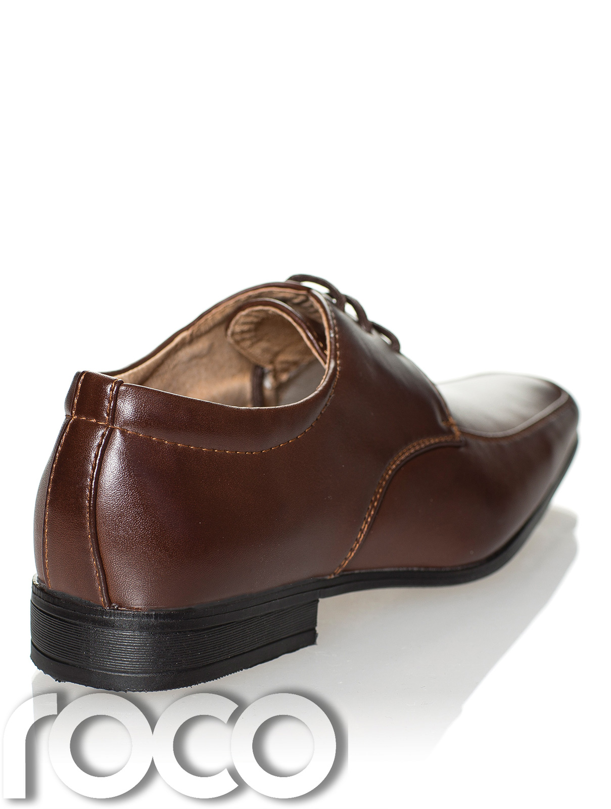 93c8771b20288f Boys dark brown formal shoes