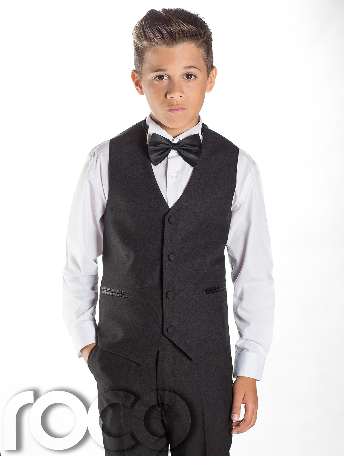 Boys Black Tuxedo Boys Dinner Suit Boys Slim Fit Suit