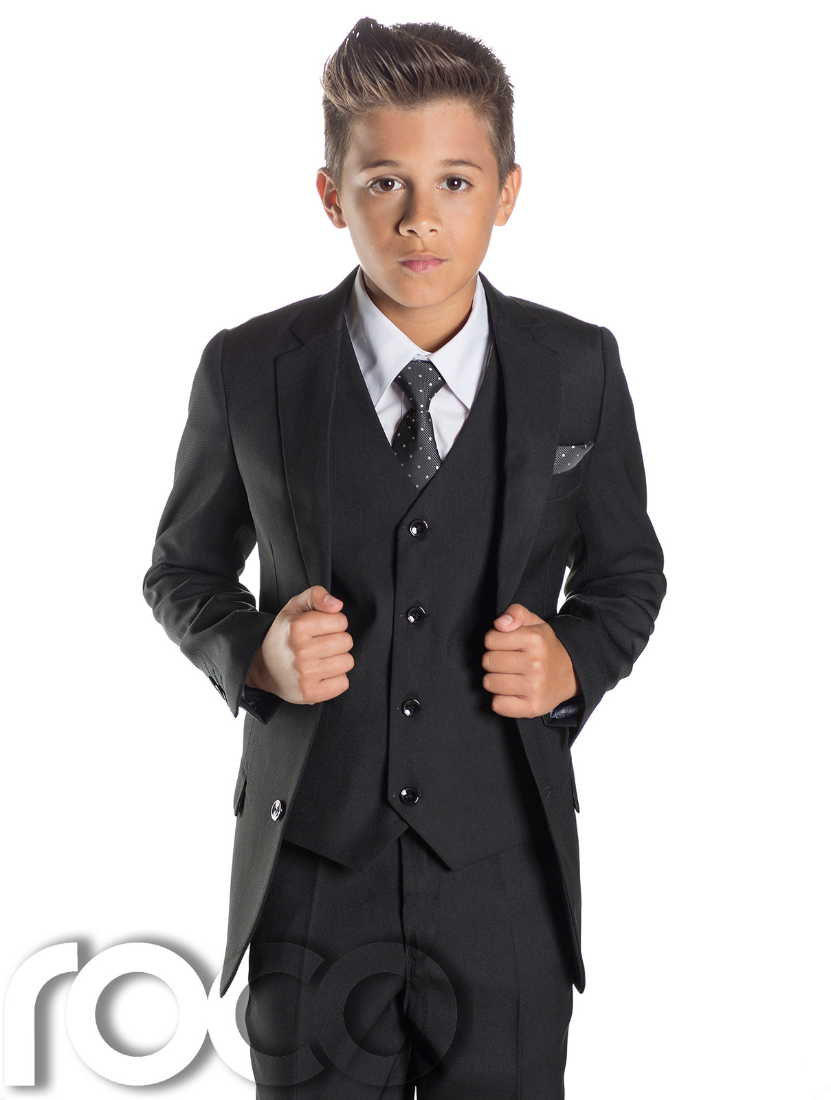 Black N Bianco Boys Tuxedos in Black with two Black Bow Ties. Sold by House Bianco. $ $ Jonathan Strong Boy's Black Tuxedo Suit Set with White Tuxedo Shirt. Sold by Sears. $ - $ Black N Bianco Ring Bearer Tuxedo for Kids in Black with a Red and Black Bow Tie.