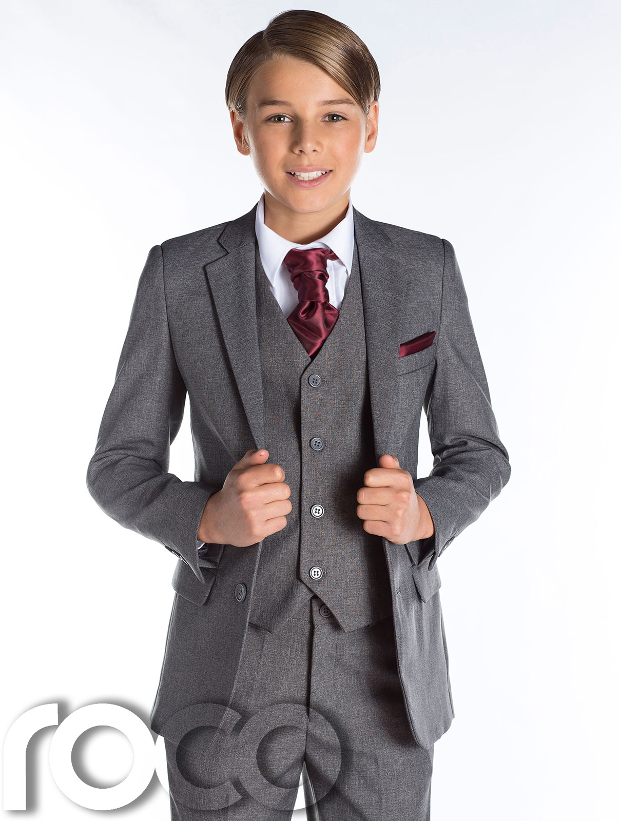 Boys Grey Tail Suit Wedding Suits Boys Suits Page Boy Suits Wine Waistcoat
