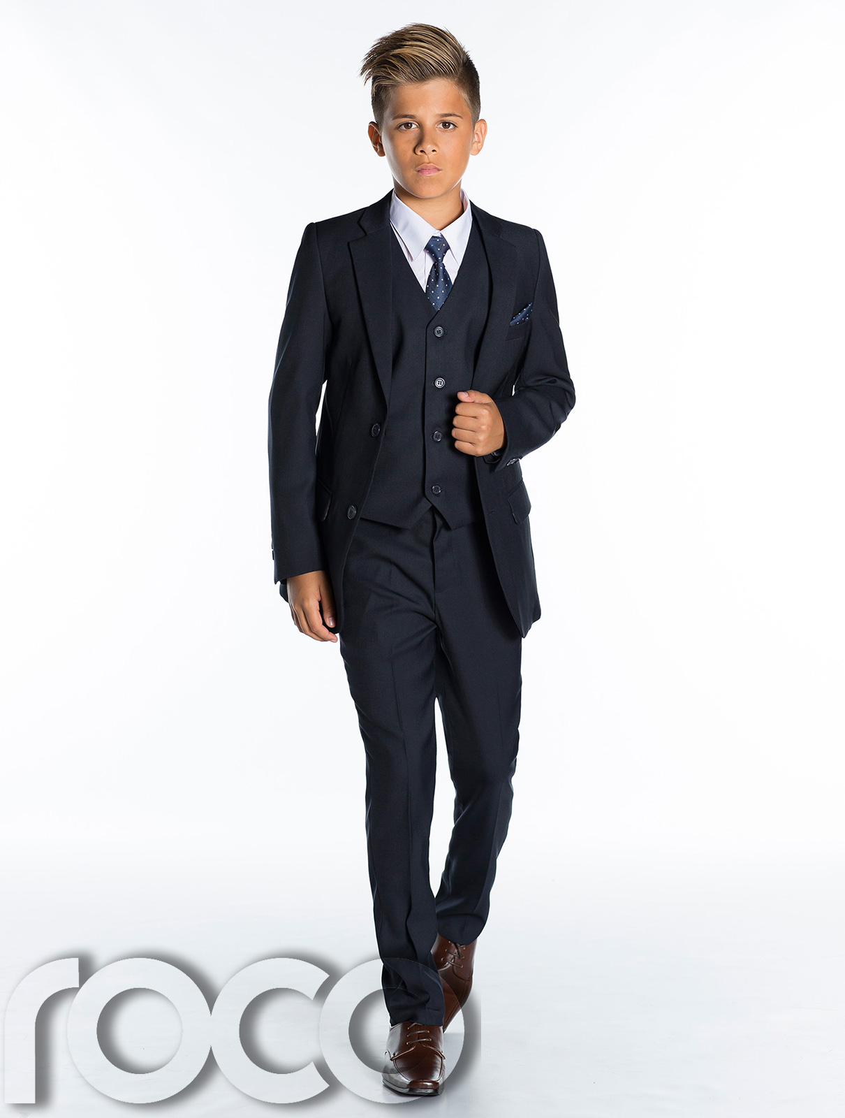 Boys Navy Suits, Page Boys Suits, Boys Wedding Suits, Prom -2835
