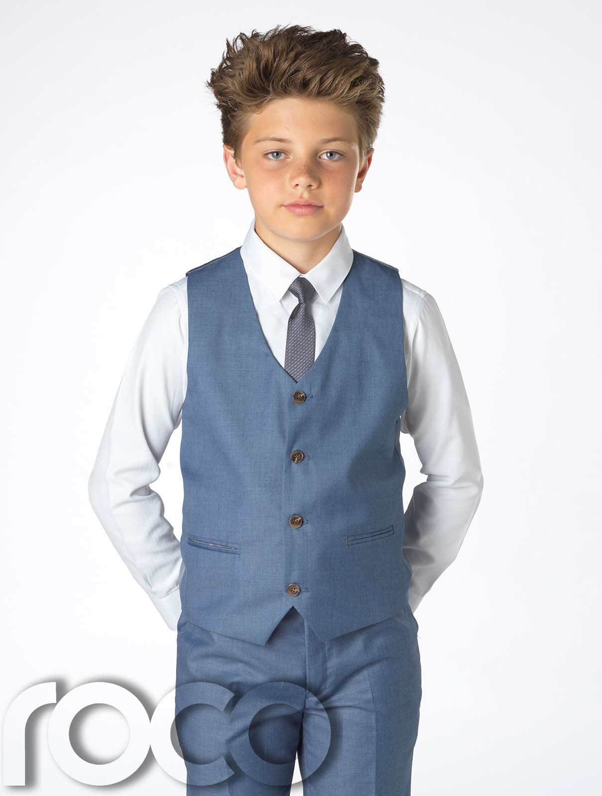 Chambray Blue Suit, Boys Slim Fit Suit, Wedding Suits, Boys Blue ...