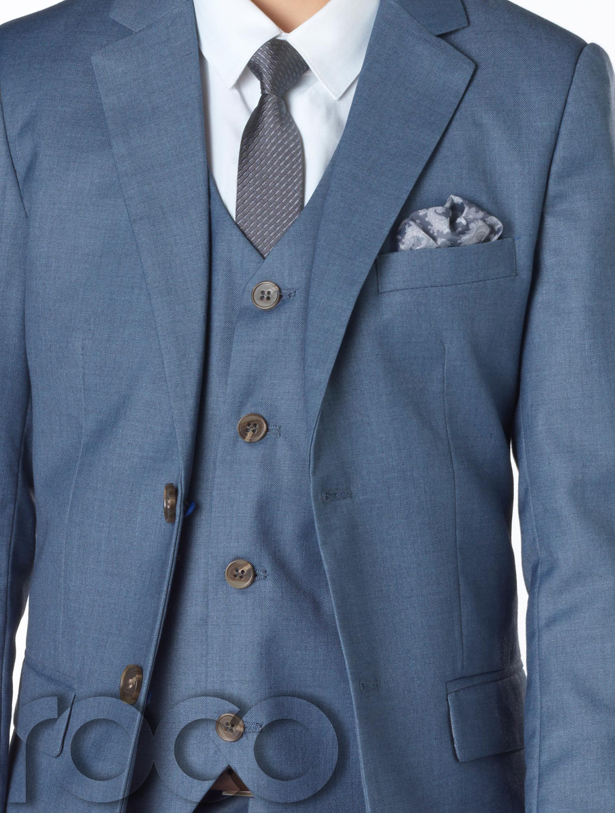 0023a1c8142a Chambray Blue Suit