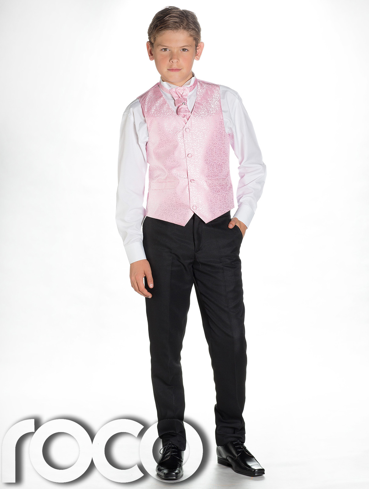 18af9bc015e5 Details about Boys Pink & Black Suit, Page Boy Suits, Boys Wedding Suits, Boys  Suits, Swirl