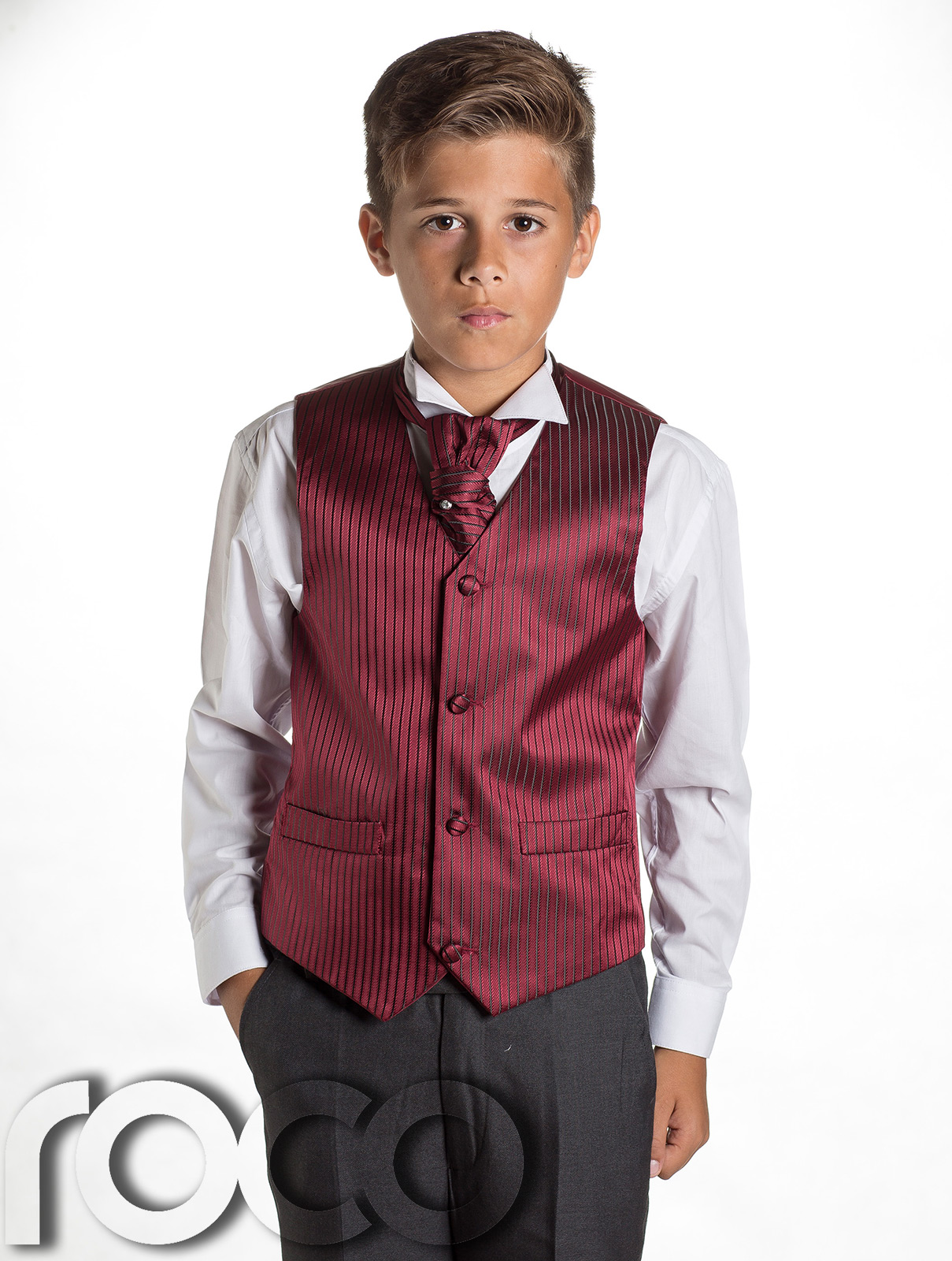 Boys Grey & Burgundy Tail Suit , Wedding Suits, Page Boy Suits ...