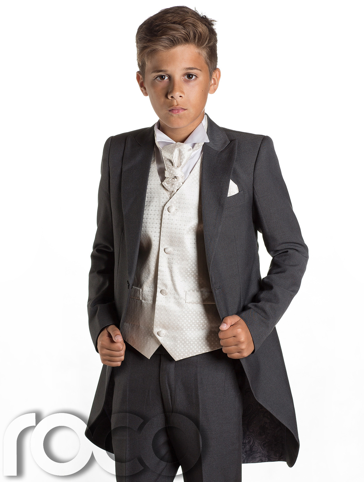 Boys Grey Tail Suit, Prom Suit, Page Boy Suit, Boys Black Suit, Boys ...