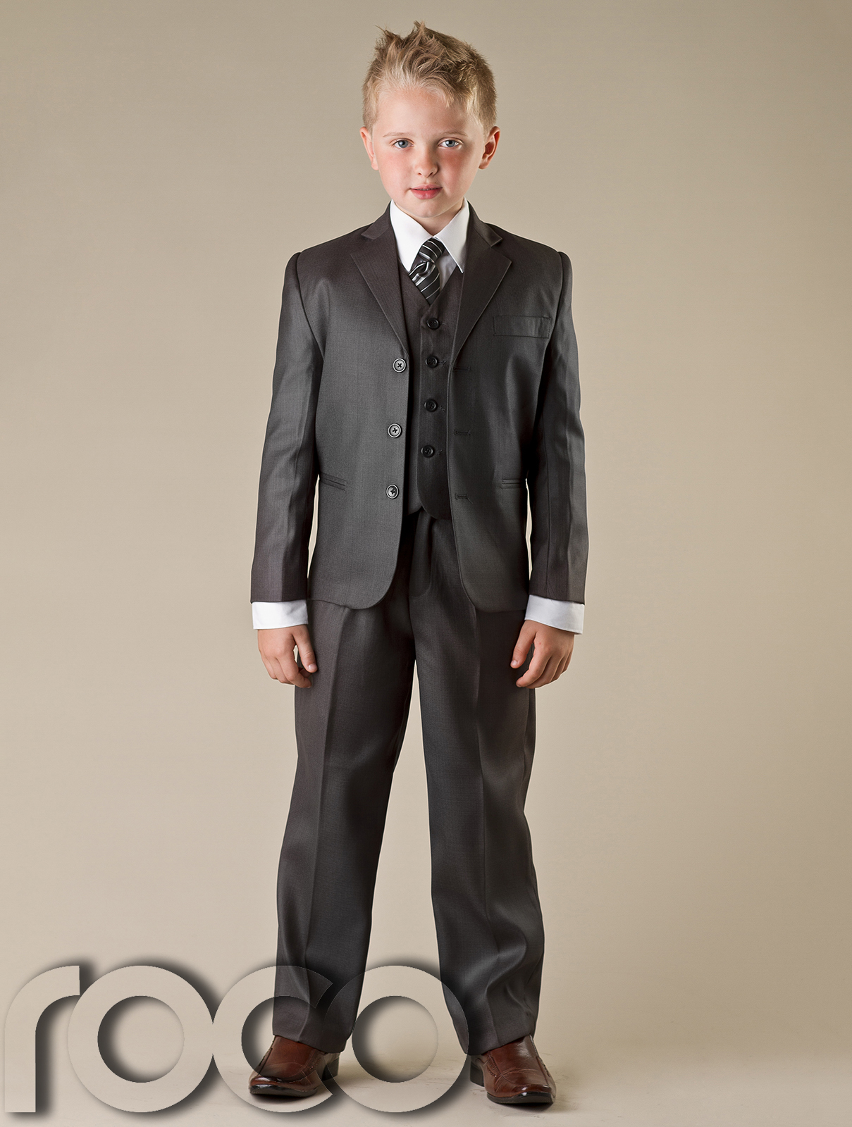 Boys Grey Suit, Communion Suit, Formal Prom Suits, Wedding Suits, 1 ...