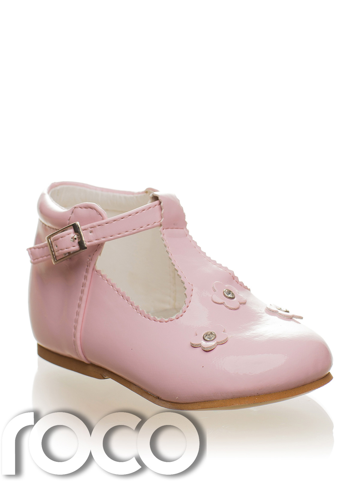 Girls baby pink shoes baby shoes flower girl shoes communion baby girls pink flower shoes mightylinksfo