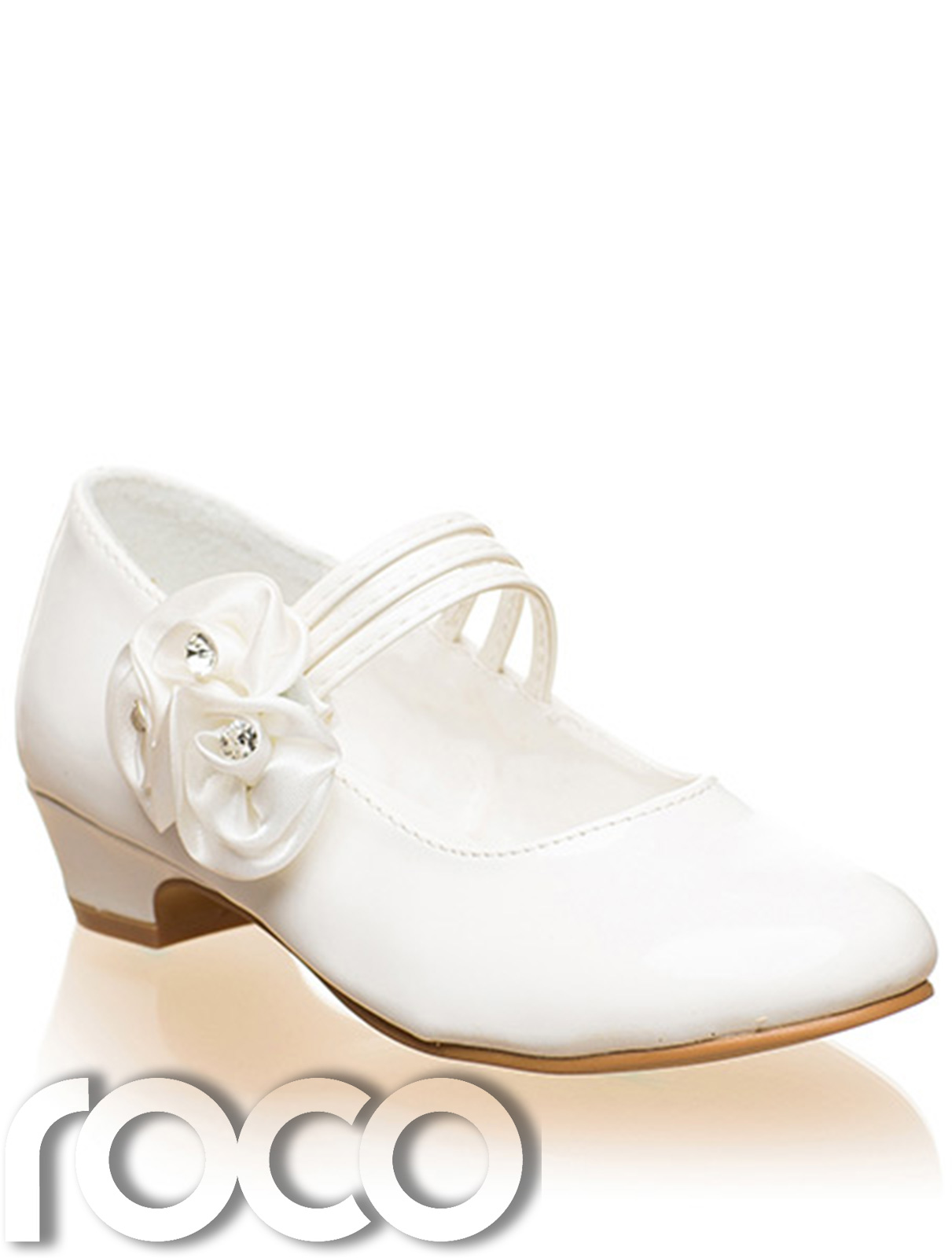 Girls Ivory Shoes, Communion Shoes, Prom Shoes, Flower